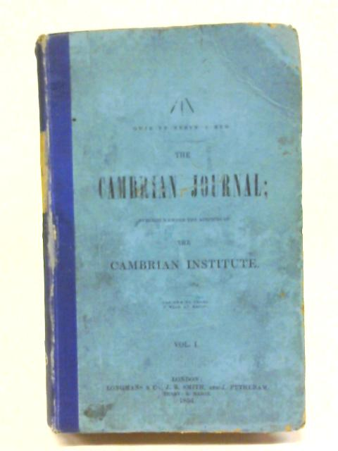The Cambrian Journal Volume 1 1854 By Anon