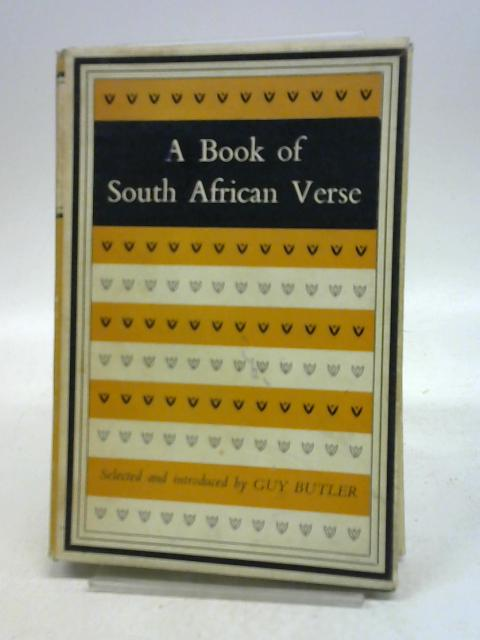 A book of South African verse By Guy Butler