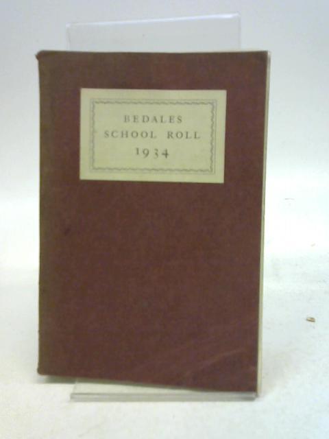 Bedales School Roll 1933 By Oswald B Powell, Rita Powell