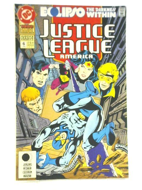 Justice League of America Annual Issue 6 Maximum Eclipse (1992 Annual) By Jurgens, Miskin, Cockrum & Marzak