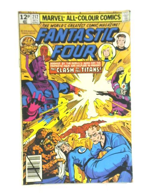 Fantastic Four #212 By Marvel Comics