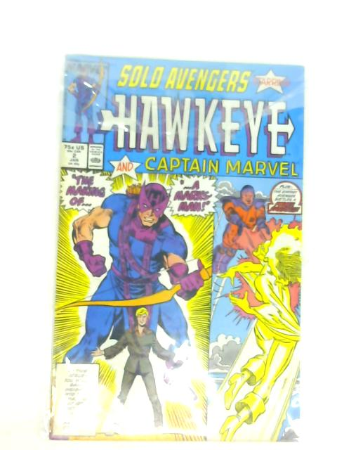 Solo Avengers Volume 1 No 2 Jan 2 1988 Starring Hawkeye and Captain Marvel By multiple