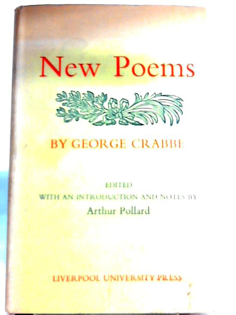 New Poems By George Crabbe