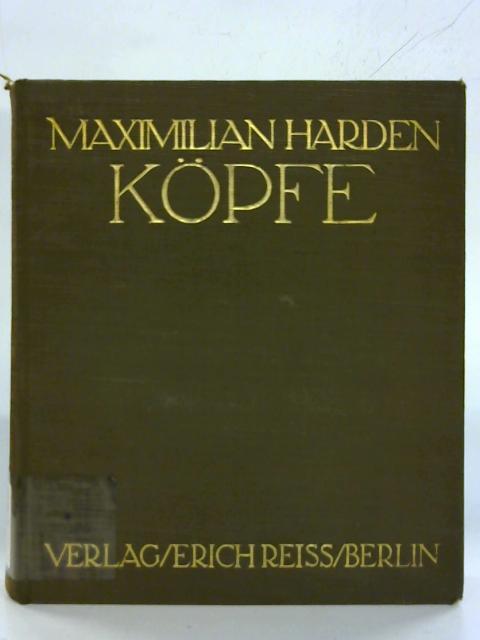 Kopfe. by Maximilian Harden