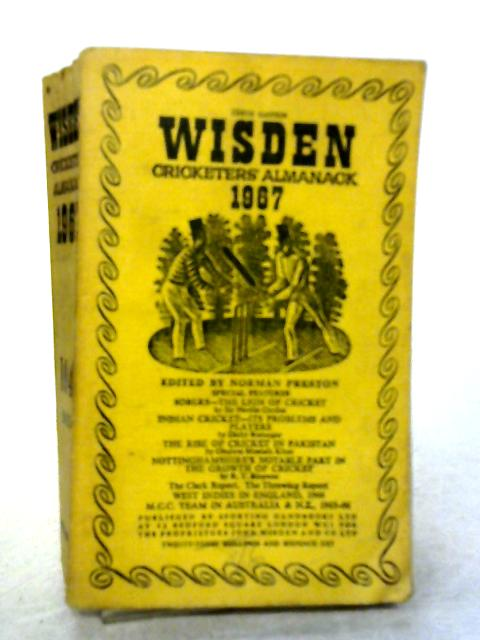 Wisden Cricketers' Almanack 1967 (104th Year) By Various