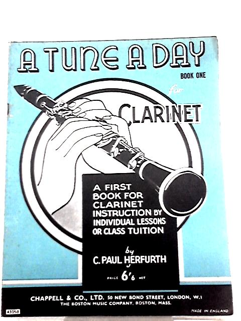 A First Book for Clarinet Instruction By C. Paul Herfurth