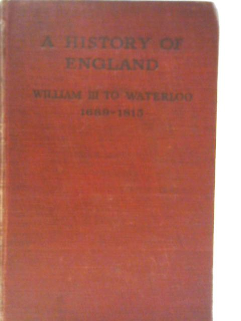A History of England By Cyril E Robinson