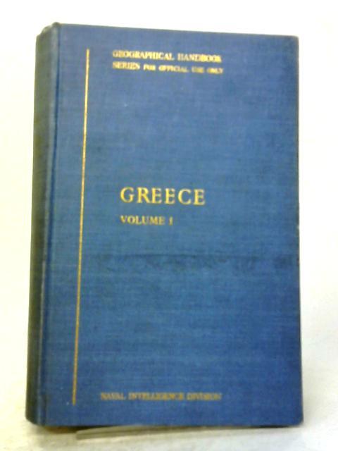 Greece Volume I By HMSO