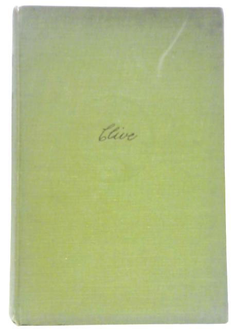 Clive of Plassey: A Biography. By A. Mervyn Davies