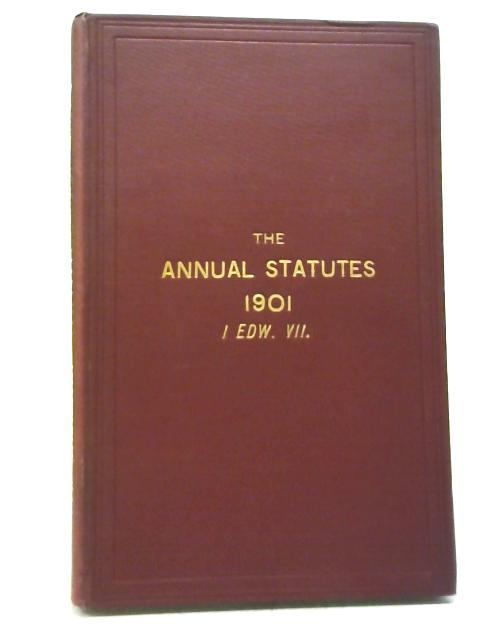 Statues of Practical Utility Passed in 1901 By J. M. Lely