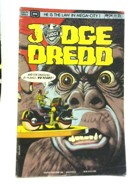 Judge Dredd No 34 By John Wagner & Alan Grant
