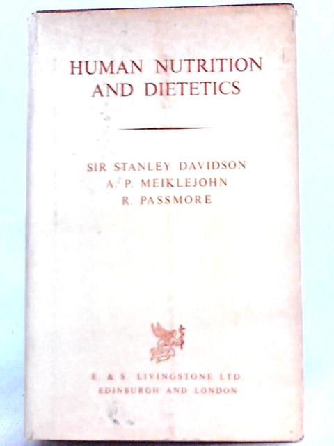 Human Nutrition and Dietetics By Stanley Davidson