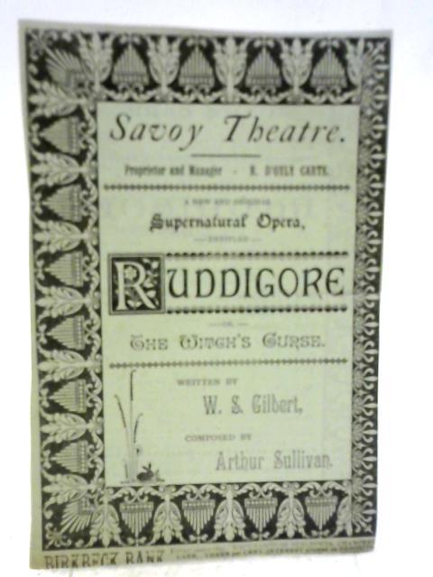 Savoy Theatre - Programme for 'Ruddigore', 1887