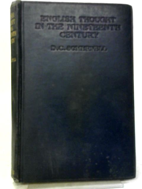 English Thought In The 19th Century By Somervell, D C