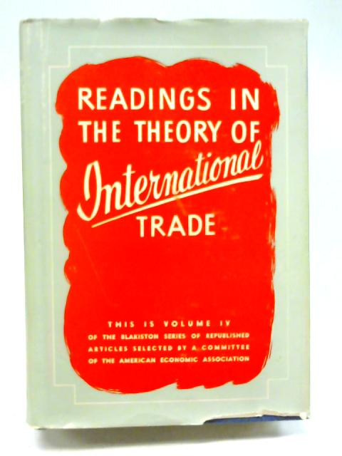Readings in the Theory of International Trade By Unstated