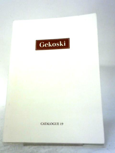 Gekoski Catalogue 19 By R. A. Gekoski
