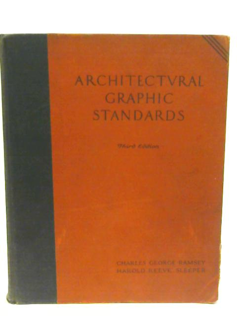 Architectural Graphic Standards Third Edition By Charles George Ramsey