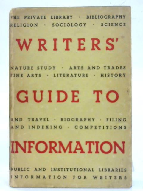 Writers' Guide To Information. By Anthony G. Hepburn