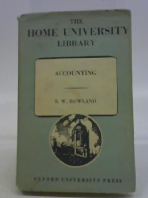 Accounting By S W Rowland