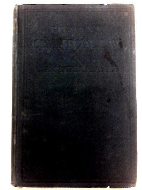 The Commercial Law of England By J. A. Slater