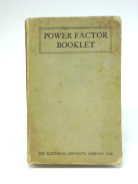Power factor booklet By Unstated