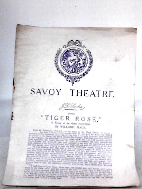 Savoy Theatre - Tiger Rose Programme 1920