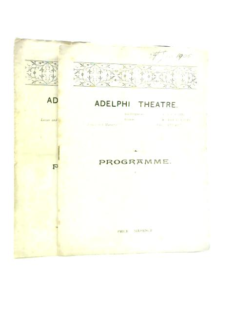 The Taming of the Shrew by William Shakespeare, Adelphi Theatre Programme By Unstated