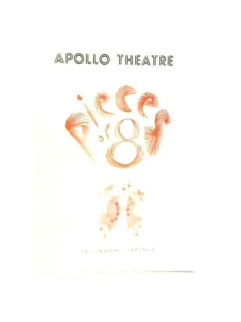 Pieces of Eight, Apollo Theatre Programme 1959 By Unstated