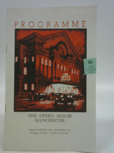 Tosca, The Manchester Opera House Programme 1953 By NA