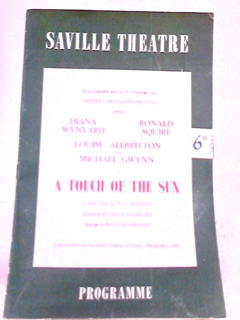 A Touch of the Sun, Saville Theatre Programme 1958