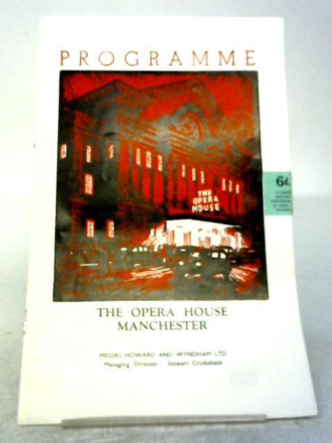 La Traviata, The Manchester Opera House Programme 1953 By Anon