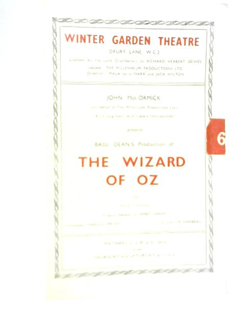The Wizard of Oz, Winter Garden Theatre Programme 1946 By Unstated