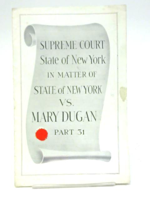 The Trial of Mary Dugan, Queen's Theatre Programme By Unstated