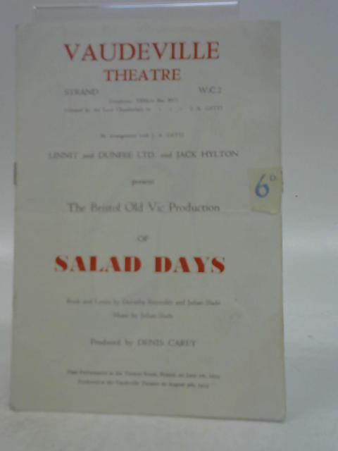 Salad Days, Vaudeville Theatre Programme 1954 By Unknown