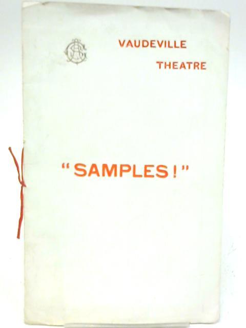 Samples, Vaudeville Theatre Programme