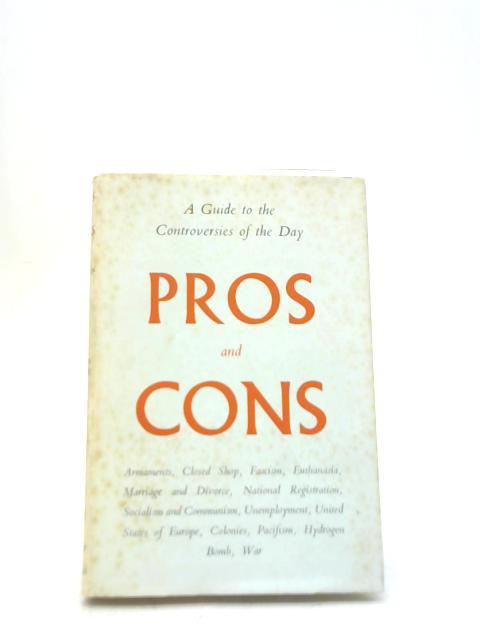 Pros and Cons By Anne Robinson