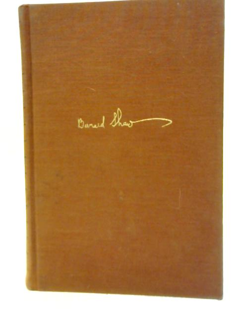 Complete Plays With Prefaces Vol. V By Bernard Shaw
