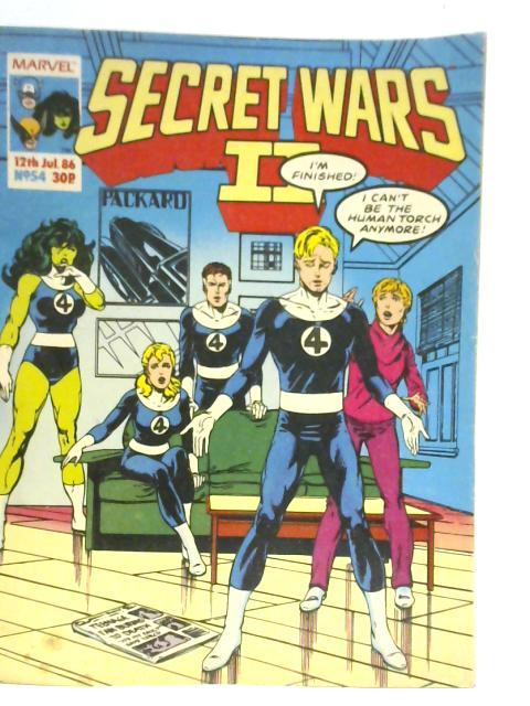 Secret Wars II No 54 1986 By Various