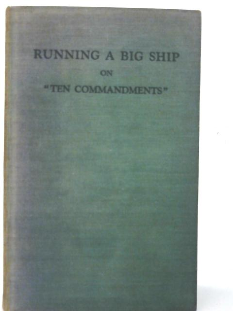 Running a Big Ship By Rory O'Conor