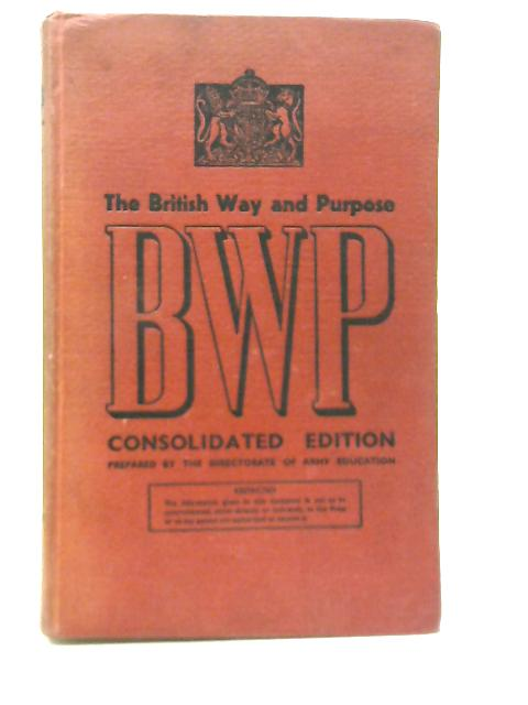 The British Way And Purpose By Unstated