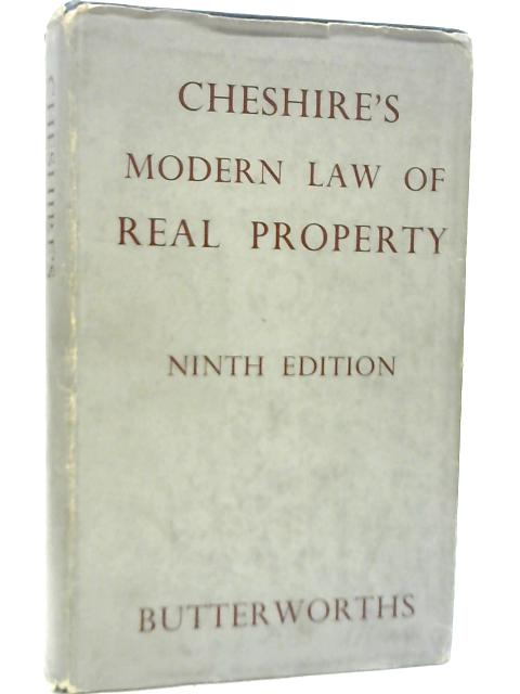 Cheshire's The Modern Law of Real Property By G C Cheshire