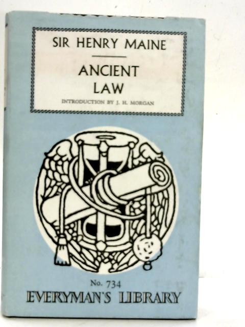 Ancient Law By Sir Henry Maine