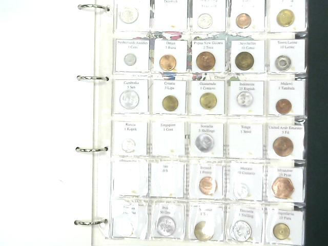 Coins of the World Westminster Collection Folder Containing 111 Coins