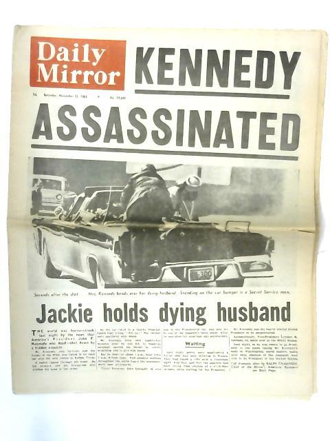 "Vintage Daily Mirror Newspaper Saturday November 23 1963 ""Kennedy Assassinated"""