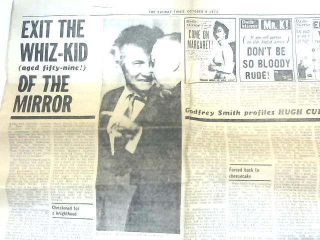 Vintage Sunday Times Cutting 8th October 1972, Hugh Cudlipp's Retirement