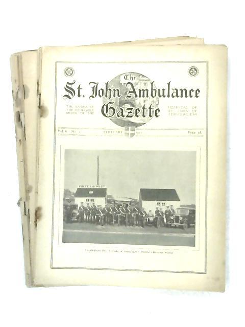 The St. John Ambulance Gazette 9 issues from 1934-35