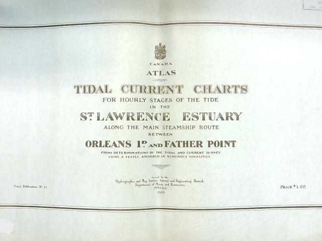 Canada Atlas, Tidal Current Charts for the Hourly Stages of the Tide in the St. Lawrence Estuary