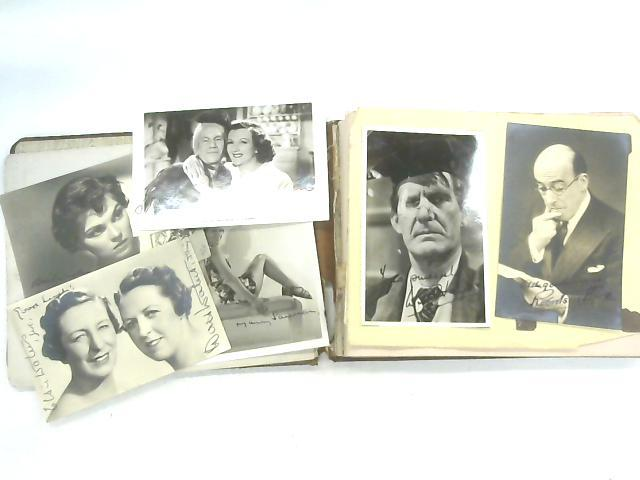 Vintage Autograph Album of Signed Postcards and other Ephemera of Robertson Hare, Arthur Lucen & Kitty McShane, The Two Leslies, with few Printed Signatures including Will Hay