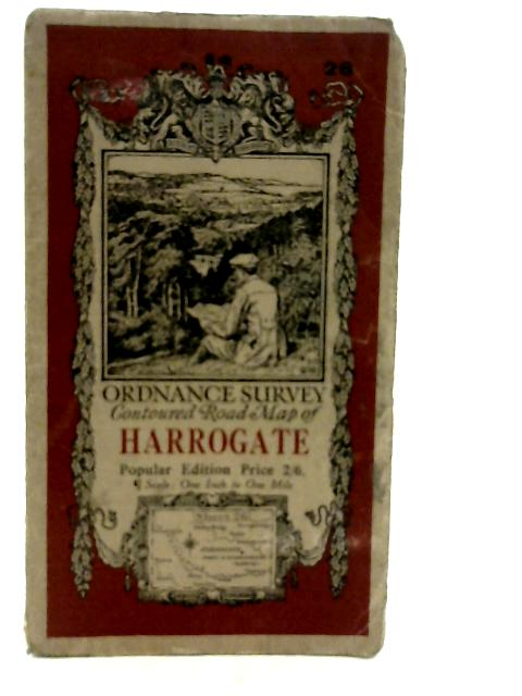 Ordnance Survey Contoured Road Map One-inch Popular Edition, Sheet 26, Harrogate. By Unstated