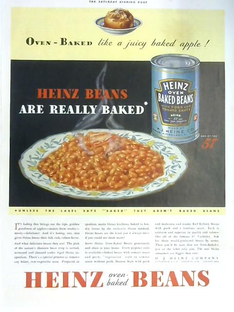 Retro Baked Beans Advertisement October 1932